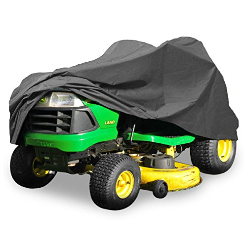 Deluxe Riding Lawn Mower Tractor Cover Fits Decks up to 54 - Dark Grey - Water, Mildew, and UV Resistant Storage Cover KapscoMoto