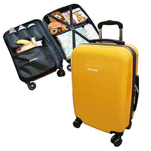 emmzoe-hardshell-baby-kids-gear-20-carry-on-spinner-luggage-multi-compartment-for-food-toys-diapers-
