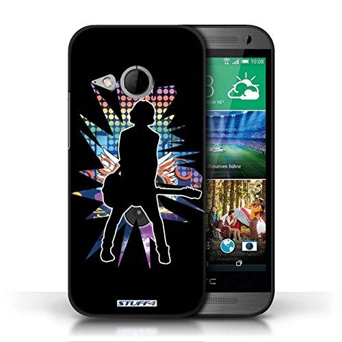 Etui / Coque pour HTC One/1 Mini 2 / émotion Noir conception / Collection de Rock Star Pose