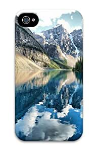 Banff National Park Custom iPhone 4s/4 Case Cover Polycarbonate 3D Thanksgiving Day gift
