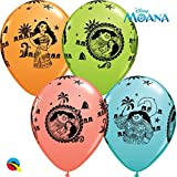 """5 x Moana (Vaiana) 11"""" Latex Balloons"""