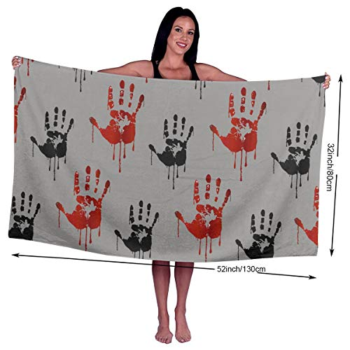Camp Ursula Halloween Palm Blood Soft Super Water Absorbent Beach Shower Bath Towel