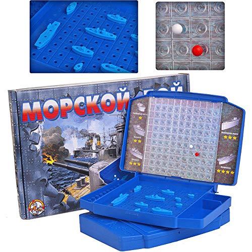 [해외]바다 전투 전함 전통 전략 보드 게임 / Sea Battle Battleships Traditional Strategy Board Game