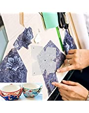 Creative Bowl Cozy Template,Microwave Bowl Holders for Hot Food Huggers Quilting Cutting,Quilting Template DIY Craft Stencil Cut On Fold Template for Sewing