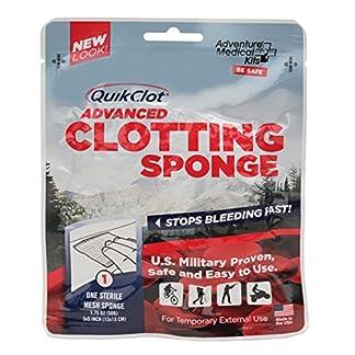 Adventure Medical Kits QuikClot Advanced Clotting Sponge Stops Bleeding (3-Pack)