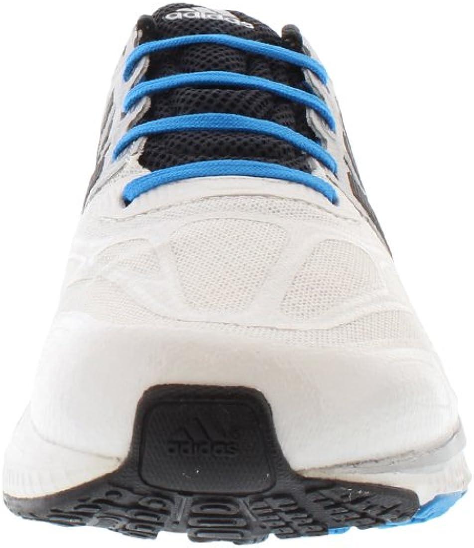 Adidas Supernova Sequence 6 zapatos corrientes de tamaño 8, Ancho regular, color blanco / plata / n Running White / Black / Black / Solar Blue 2