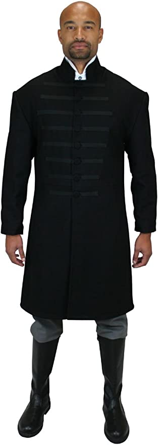 Men's Steampunk Jackets, Coats & Suits Marshal Wool Coat Historical Emporium Mens Field $202.95 AT vintagedancer.com