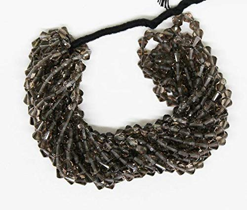 (GemAbyss Beads Gemstone Smokey Quartz Faceted Fancy Shape / 14 Inch Long Full Strand/Smoky Quartz Semi Precious Stone Gemstone Beads/ 33 Carat Size-2-3mm Code-MVG-2308)