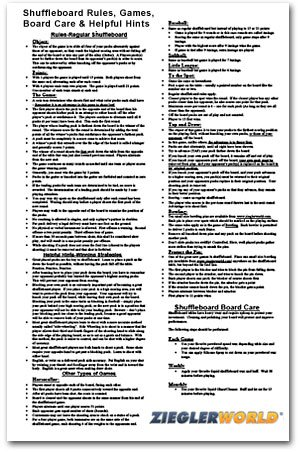 Table Shuffleboard Rules & Regulation Po - Venture Shuffleboard Shopping Results