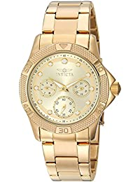 Women's Angel Quartz Watch with Stainless-Steel Strap, Gold, 20 (Model: 21766)