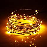 DALAMODA LED String Lights 2Pcs(Total with 80 LEDs 26FT) Christmas string light Window Curtain String Light for Wedding Party Home Garden Bedroom Outdoor Indoor Wall Decorations (Warm White)
