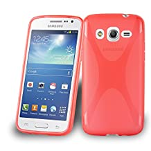 Cadorabo – Silicone Case X-LINE SLIM-FLEX for Samsung Galaxy CORE LTE (G386) – Etui Cover Protection Bumper Skin in CANDY-APPLE-RED