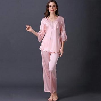 Pajamas Traje de Pijama, algodón con Bolsillos Albornoz ...