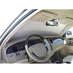 The Original Windshield Sun Shade, Custom-Fit for Lincoln Town Car Sedan 1998-2011, Silver Series