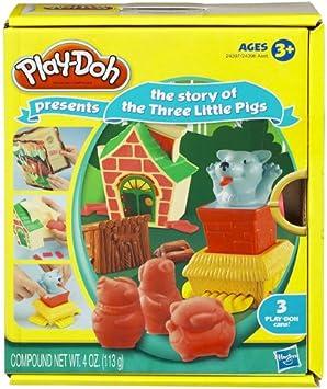 Hasbro Playdoh Cuentos Los Tres cerditos - Set de plastelina con ...