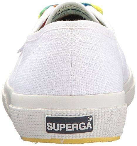 Superga Donna 2750 Cotw Multicolor Sneaker Bianca Multi