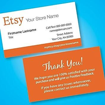 Amazon Etsy Business Cards Free Custom Url To Your Etsy