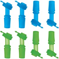 The Mass Replacement Bite Valve Set for CamelBack Eddy Kids Water Bottle 8pack (4 Green & 4 Sky Blue)