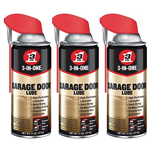 3-IN-ONE Professional Garage Door Lubricant Smart Straw Spray, 11 Ounce (3 Pack) (Garage Door Opener Chain Lube)