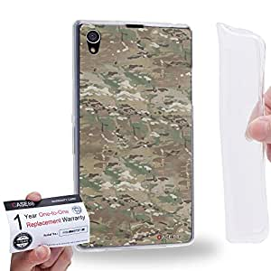 Case88 [Sony Xperia Z1] Gel TPU Carcasa/Funda & Tarjeta de garantía - Art Trend Mix Multicam Desert Camouflage C Art1090