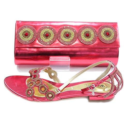 Mujer Tamaño juego Wear Aria a bolso 5 UK Rojo Cristal W Diamante W Damas Zona Zapatos Walk y 11 y AqFwpxqOI