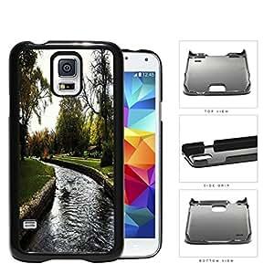 Park And Stream Fall Season Scene Hard Plastic Snap On Cell Phone Case Samsung Galaxy S5 SM-G900