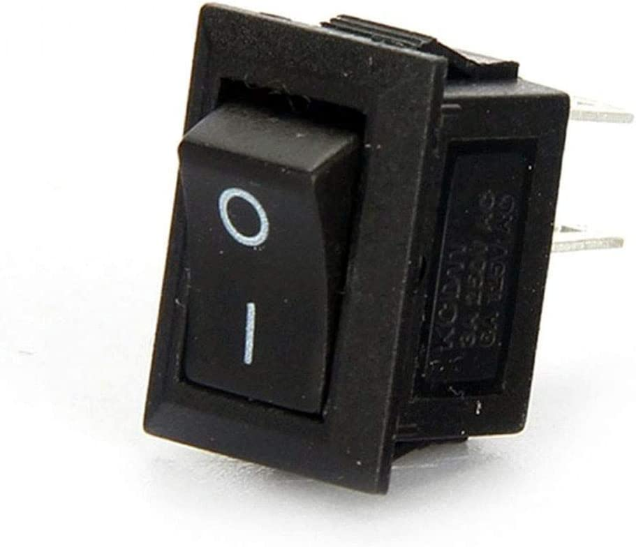 3 Pin 6A//250V SPST Press Button Toggle Switch with 10Pcs Waterproof Cap for Car Auto Household Appliances Ltsstoreuk 10Pcs 3 Position Mini Boat Switch Round 10A//125V Black On//Off Rocker Switch