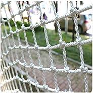Garden Rope Netting Heavy Duty Cargo Net Stairs Fence Balcony Protective Net Outdoor Climbing Decoration Swing