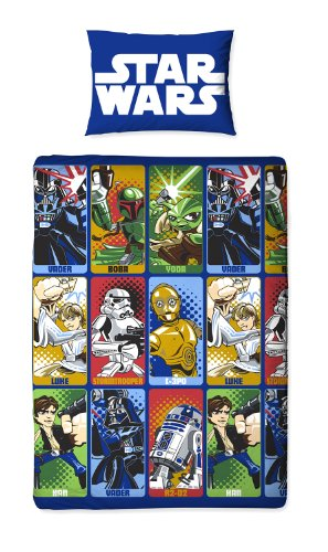 Star War 'Cartoon' Character Single Rotary Duvet Cover Set With Pillowcase