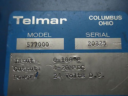 1 New Telmar 577000 Temperature Transmitter 0-100 Degrees Celsius (Rr8-1)
