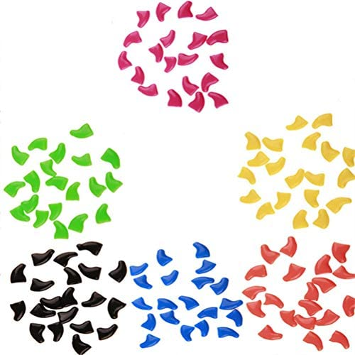 PopetPop 120 Stück weiche Haustier-Abdeckungen für Katzen und Hunde, Nail Caps und Katzen, Größe S (verschiedene Farben)