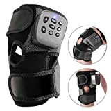 Massaging Heated Knee Brace Wrap for Knee Injury, Cramps Arthritis Recovery, Heat Compress