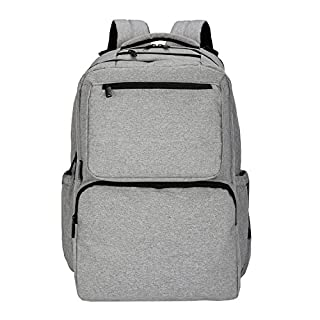 SoHo diaper bag backpack Ultimate System 5 pieces nappy tote bag for baby mom dad stylish insulated unisex multifunction large capacity durable includes changing pad stroller straps Classic Gray