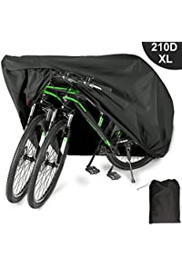Ripstop Windproof Anti-UV Protection Storage Bag for 1 Bike Uheng Bike Cover Waterproof Outdoor Bicycle Cover for 26 inch Mountain Road Bikes
