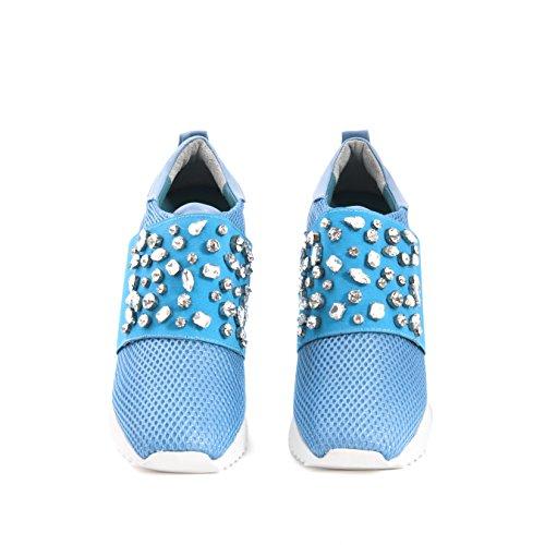 Rouge 181RGK595 3253, Plateforme Femme Bleu