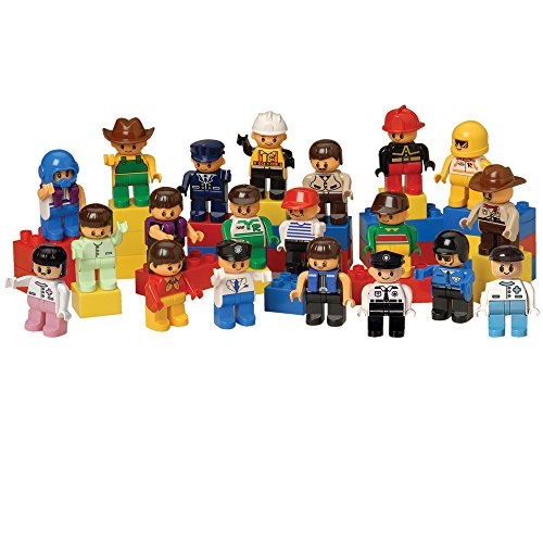 CP Toys 20 pc. Posable People for Preschool-sized Building Bricks ()