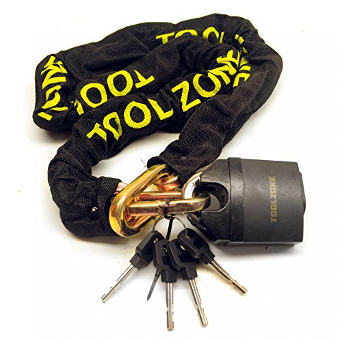 Motorcycle Bike Motorbike Security Chain Disc Lock Heavy Duty Padlock 1.1m TE149 by AB Tools