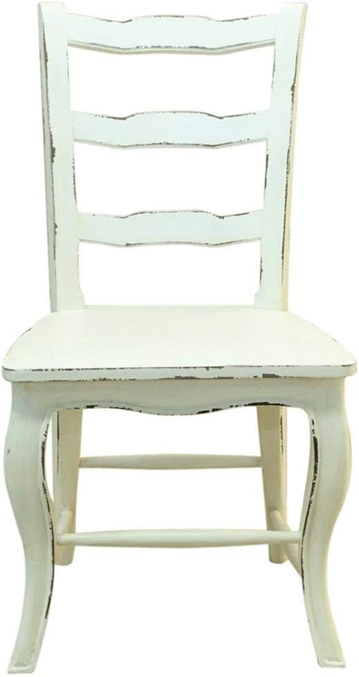 Etnicart Sedia provenzale Shabby Chic bianco 51x96x51