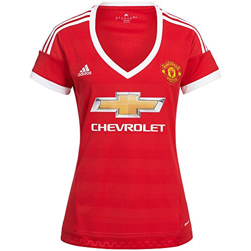 adidas Manchester United Womens Home Jersey 2015-2016 (XL) Red ()