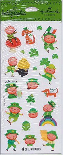 Hallmark Holographic St. Patrick's Day Stickers - 4 Sheets