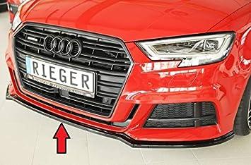 Rieger Frontal Alerón Espada Negro Brillante para Audi A3/S3 (8 V): 09.16 (a Partir de Facelift): Amazon.es: Coche y moto
