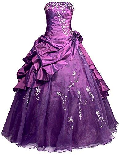 Ballkleid Lila Abendkleid R37 Frauen Trägerlosen Faironly gzwqOxIHn