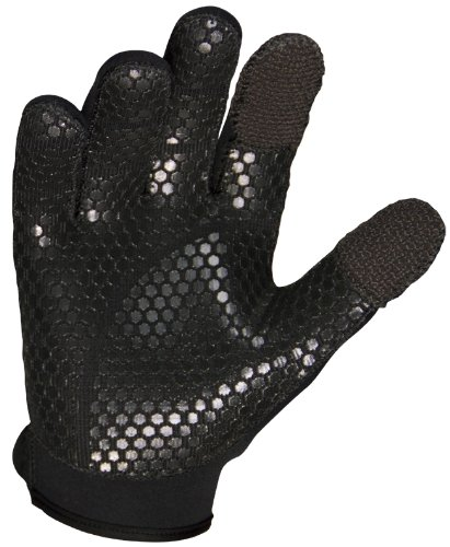 Stormr Strykr 2mm Neoprene Women and Mens Glove Fully Lined Micro-Fleece Gloves with Adjustable Wrist Closures Ideal for Ice Fishing Winter Conditions and Foul Weather XS
