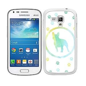 Funda carcasa para Samsung Galaxy S DUOS 2 diseño perro westie silueta estampado zigzag zig-zag borde blanco