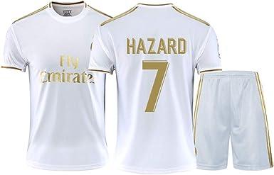 Real Madrid Eden Hazard # 7 2019-2020 - Camiseta de fútbol para niño, Color Blanco, Niños, Color Color, tamaño XXL: Amazon.es: Ropa y accesorios