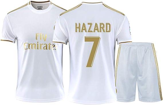 Real Madrid Eden Hazard # 7 2019-2020 - Camiseta de fútbol para ...