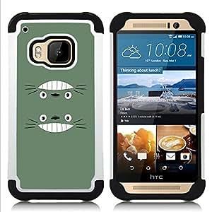 - Cute Funny Smiling Totro/ H??brido 3in1 Deluxe Impreso duro Soft Alto Impacto caja de la armadura Defender - SHIMIN CAO - For HTC ONE M9