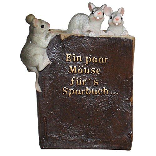 Spardose - Sparbüchse - Sparbuch *Ein paar Mäuse für´s Sparbuch* Maße: 17 x 12 x 9 cm, zum Öffnen