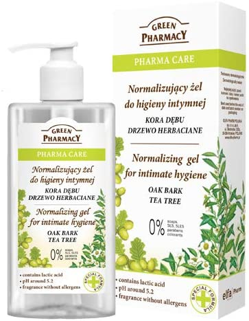 The Green Pharmacy Gel Higiene Intima a base de Corteza de Roble Arbol del Té y Acido Láctico - 300 ml
