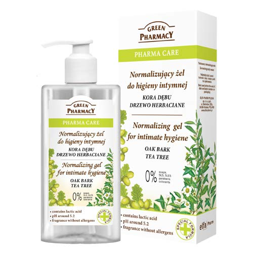 The Green Pharmacy Gel Higiene Intima a base de Corteza de Roble Arbol del Te y Acido Lactico - 300